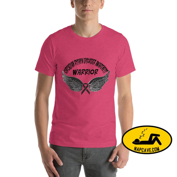 Circadian Rhythm Disorder Awareness Warrior Unisex T-Shirt Heather Raspberry / S SHIRT The NapCave Circadian Rhythm Disorder Awareness