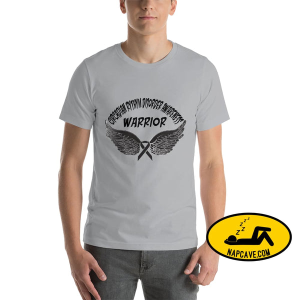 Circadian Rhythm Disorder Awareness Warrior Unisex T-Shirt Silver / S SHIRT The NapCave Circadian Rhythm Disorder Awareness Warrior Unisex