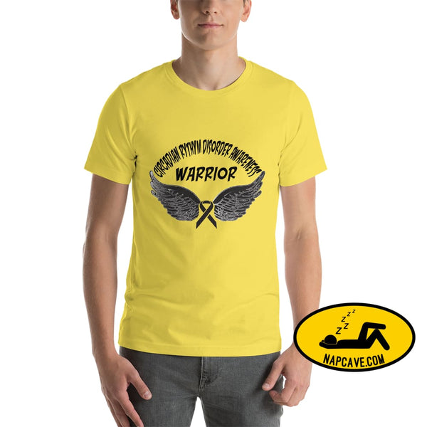 Circadian Rhythm Disorder Awareness Warrior Unisex T-Shirt Yellow / S SHIRT The NapCave Circadian Rhythm Disorder Awareness Warrior Unisex