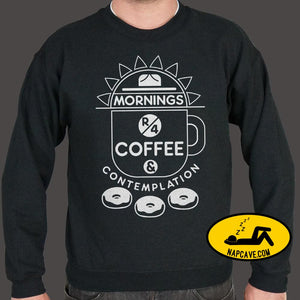 Coffee & Contemplation Sweater (Mens) Sweatshirt US Drop Ship Coffee & Contemplation Sweater (Mens) coffee fi food movie sci