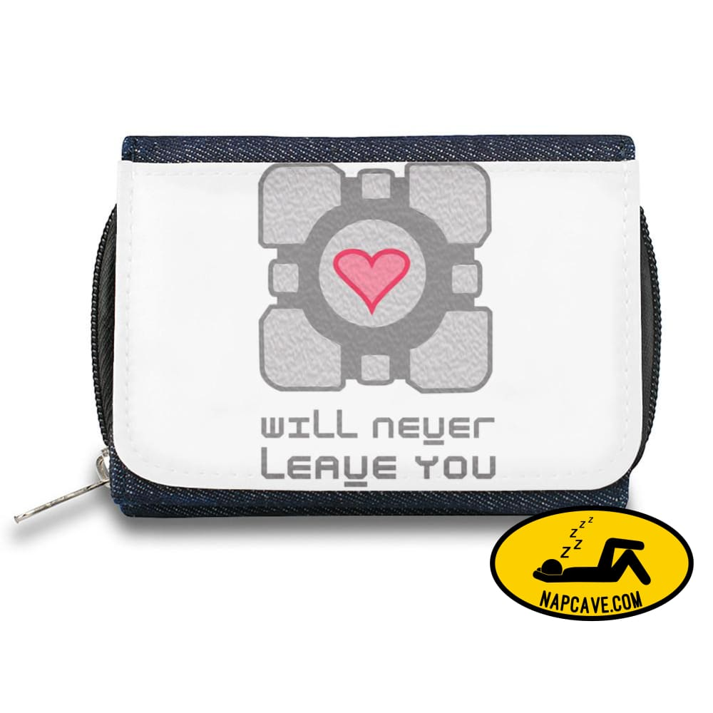 Companion Cube Zipper Wallet| The Stylish Pouch To Keep Everything Organized| Ideal For Everyday Use & Traveling| Authentic Accessories By