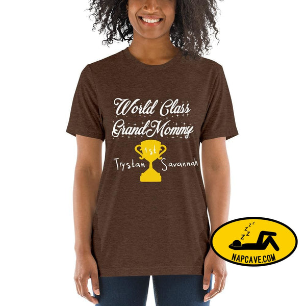 Customizable World class Grandma Short sleeve t-shirt Brown Triblend / XS Shirt The NapCave Customizable World class Grandma Short sleeve