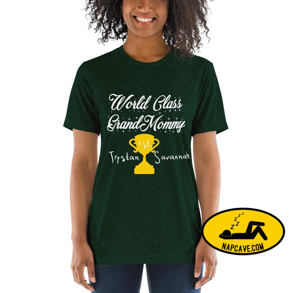Customizable World class Grandma Short sleeve t-shirt Emerald Triblend / XS Shirt The NapCave Customizable World class Grandma Short sleeve