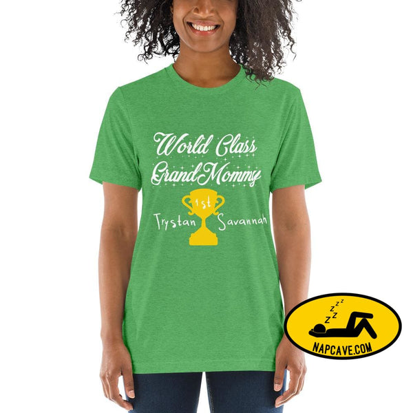 Customizable World class Grandma Short sleeve t-shirt Green Triblend / XS Shirt The NapCave Customizable World class Grandma Short sleeve