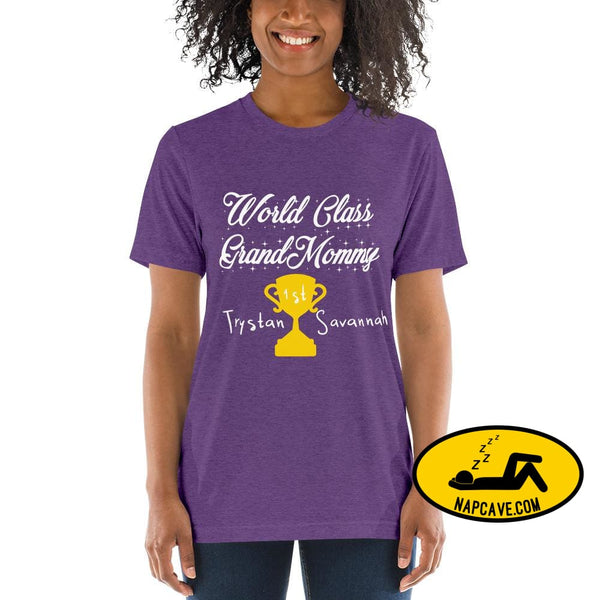 Customizable World class Grandma Short sleeve t-shirt Purple Triblend / XS Shirt The NapCave Customizable World class Grandma Short sleeve
