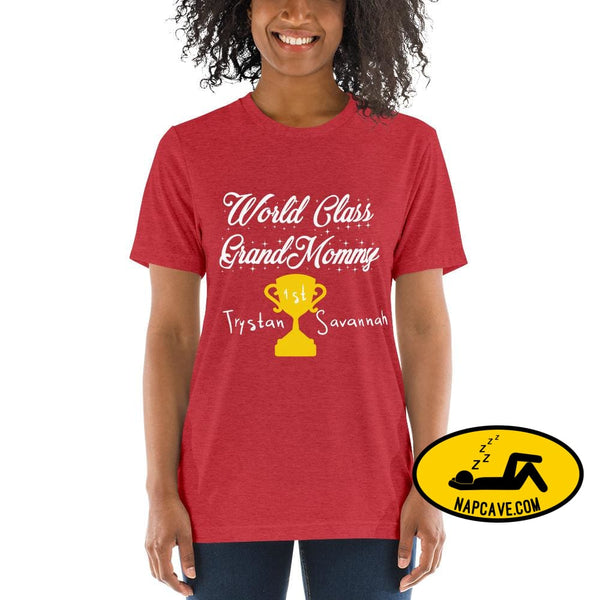Customizable World class Grandma Short sleeve t-shirt Red Triblend / XS Shirt The NapCave Customizable World class Grandma Short sleeve