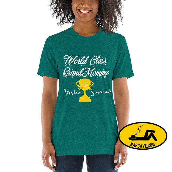 Customizable World class Grandma Short sleeve t-shirt Teal Triblend / XS Shirt The NapCave Customizable World class Grandma Short sleeve