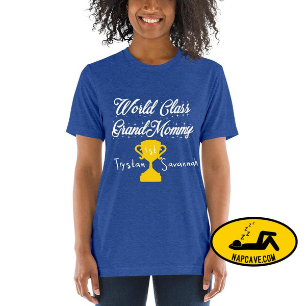 Customizable World class Grandma Short sleeve t-shirt True Royal Triblend / XS Shirt The NapCave Customizable World class Grandma Short