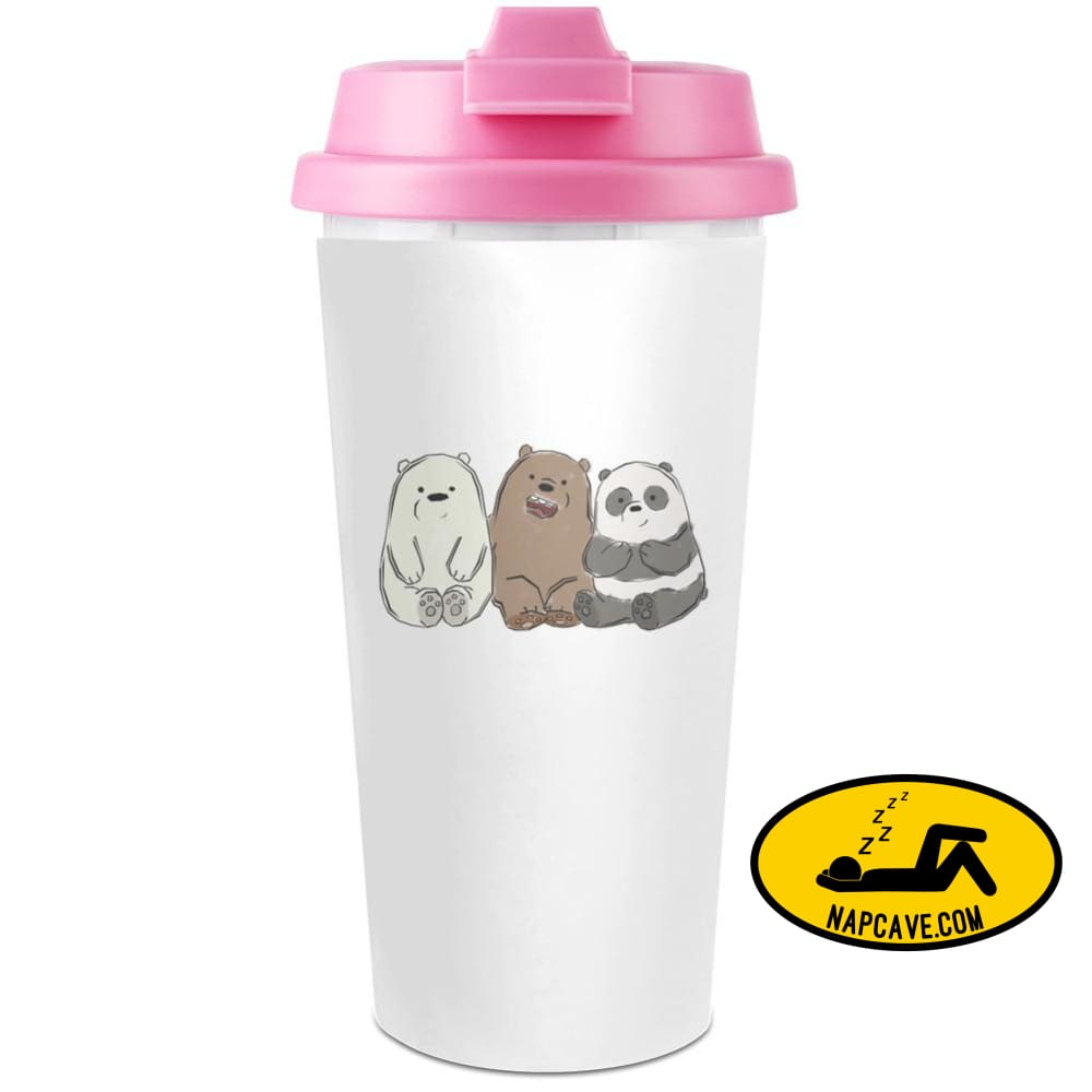 Cute Bears Plastic Travel Coffee Cup - 450 ml - Enjoy Your Drinks Everywhere AliExp Cute Bears Plastic Travel Coffee Cup - 450 ml - Enjoy