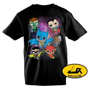 DC Comics Anime Bobblehead Justice League Boys T-Shirt DC Comics DC Comics Anime Bobblehead Justice League Boys T-Shirt mxed