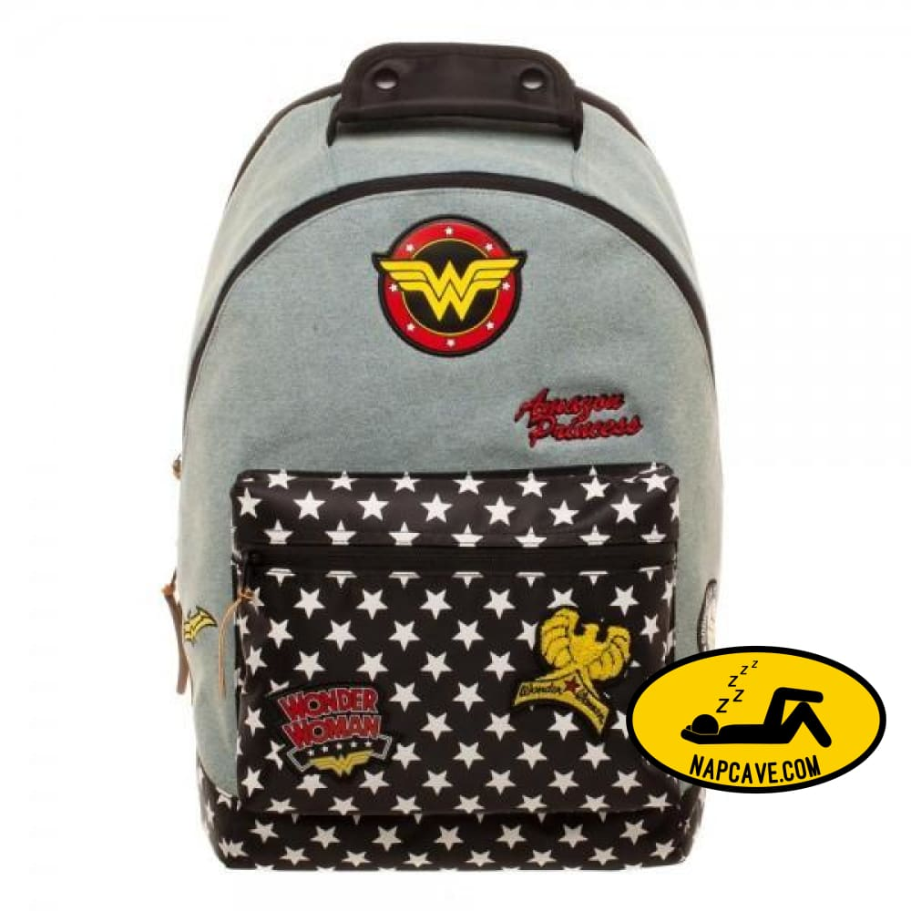 DC Comics Wonder Woman Denim Backpack w/ Patches Wonder Woman DC Comics Wonder Woman Denim Backpack w/ Patches mxed