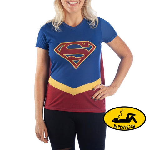 DC Supergirl Cape Tee Cosplay Supergirl Shirt Supergirl Cosplay - Supergirl Cape Shirt DC Comics Supergirl TShirt DC Comics DC Supergirl