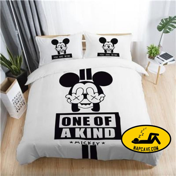 Disney mickey minnie valentine romantic duvet cover set king queen double full twin single size bed linen set KYMQ3 / AU DOUBLE The NapCave