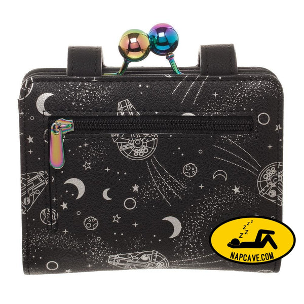 Disney Star Wars Universe Wallet & Coin Purse Galaxy Hologram All Over Print Space Spacecraft [Low stock products] Disney Star Wars Universe