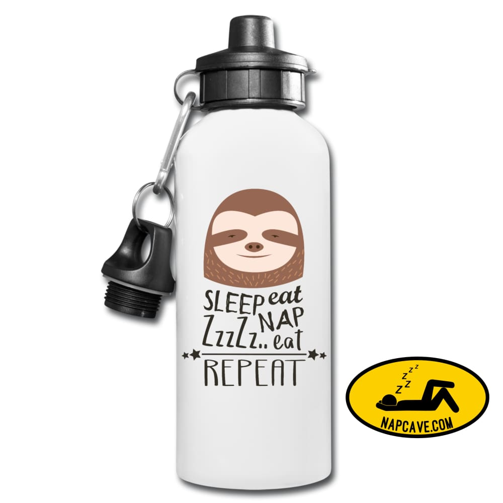 Eat Sleep Nap Repeat Water Bottle One Size Water Bottle SPOD Eat Sleep Nap Repeat Water Bottle Accessories Be like Sloth customizable eat