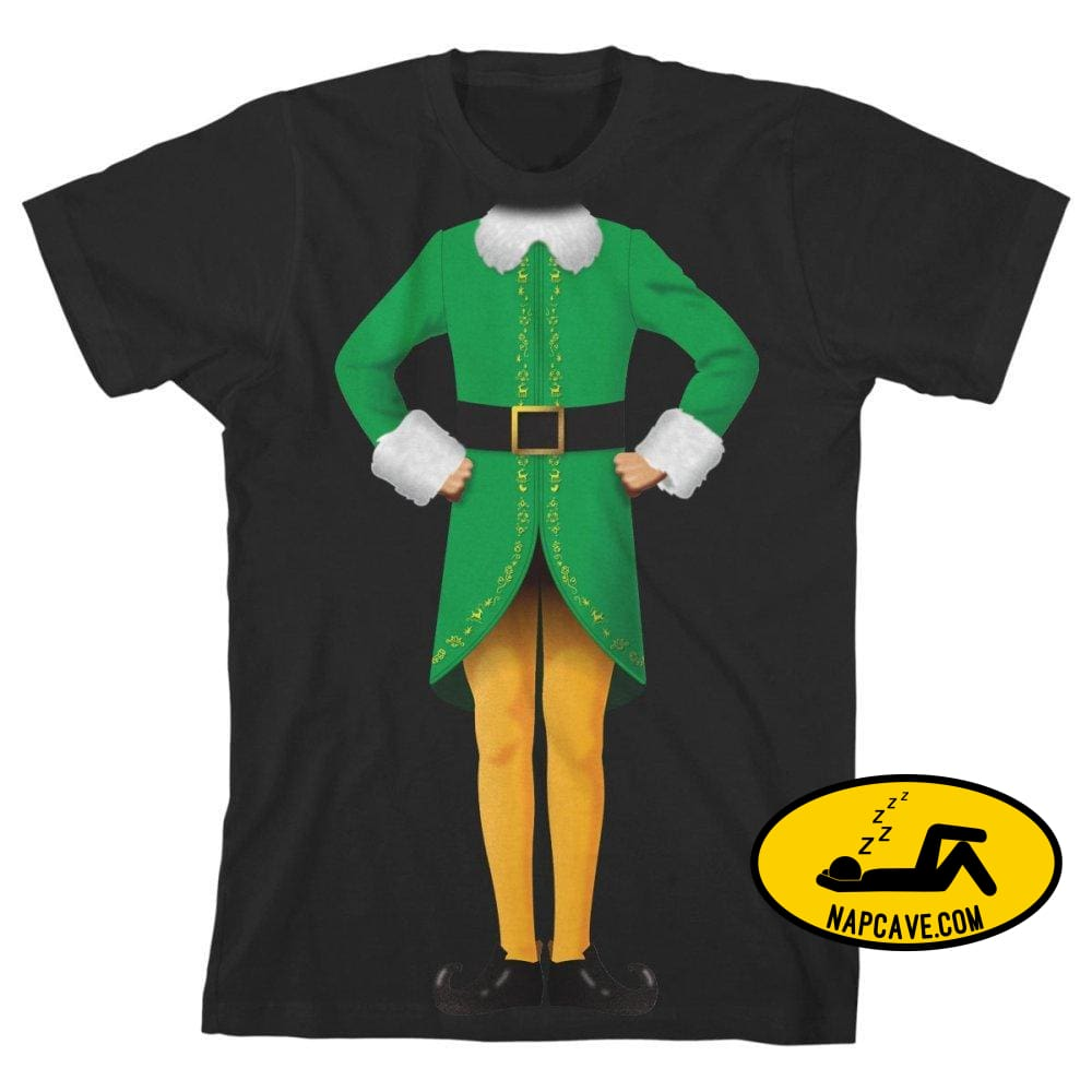 Elf Movie Boys Graphic Tee Boys Buddy the Elf Shirt Warner Bros Elf Movie Boys Graphic Tee Boys Buddy the Elf Shirt mxed