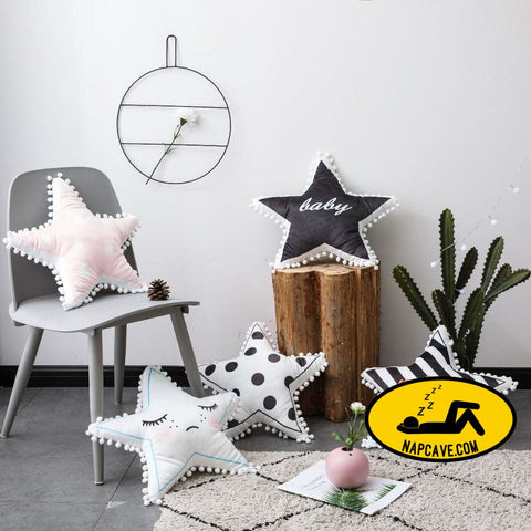 fashion black and white grid star shape cushion baby cotton pillow kids room decoration baby bedding decorative for babies gift The NapCave