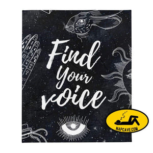 Find Your Voice Throw Blanket The NapCave Find Your Voice Throw Blanket Blanket chronic Christmas cuddles find your voice Find Your Voice