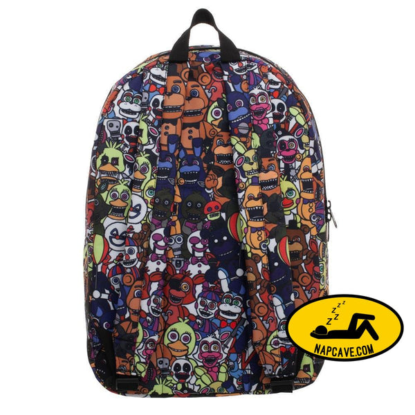 Five Nights at Freddys Sublimated Print Characters Backpack The NapCave Five Nights at Freddys Sublimated Print Characters Backpack mxed