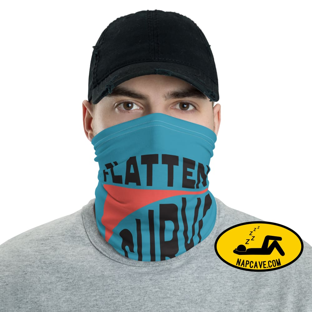Flatten the Curve Neck gaiter The NapCave Flatten the Curve Neck gaiter covid-19,Face mask,flatten the curve,protect yourself,reusable