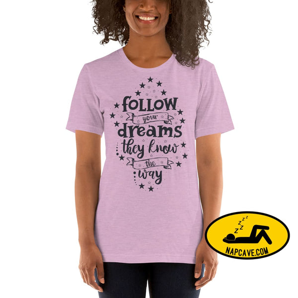 Follow your Dreams They know where to Go Short-Sleeve Unisex T-Shirt The NapCave Follow your Dreams They know where to Go Short-Sleeve
