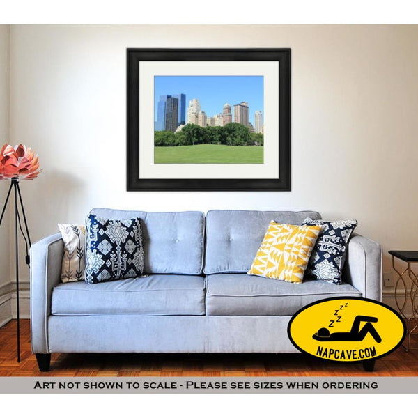 Framed Print Central Park And Manhattan Skyline At Spring Time New York City Framed Print Ashley Art Studio Framed Print Central Park And