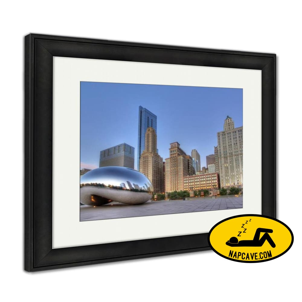 Framed Print Cloud Gate At Millennium Park 1 Framed Print Ashley Art Studio Framed Print Cloud Gate At Millennium Park 1 art bean chicago