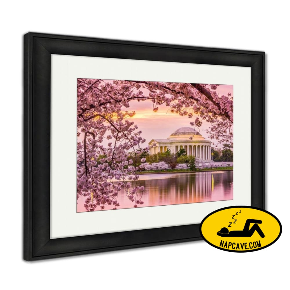Framed Print Jefferson Memorial In Spring Framed Print Ashley Art Studio Framed Print Jefferson Memorial In Spring america american art