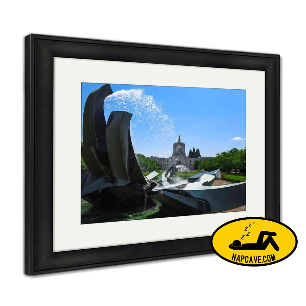 Framed Print Salem Oregon Capitol Building And Water Fountain Framed Print Ashley Art Studio Framed Print Salem Oregon Capitol Building And
