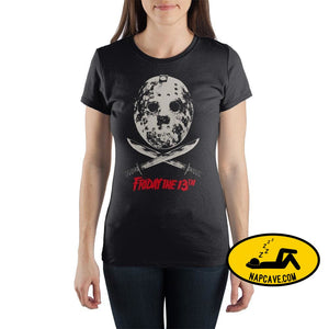 Friday The 13th Crew Neck Short Sleeve Womens T Shirt Warner Bros Friday The 13th Crew Neck Short Sleeve Womens T Shirt mxed
