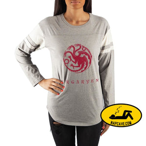 Game of Thrones House Targaryen Crew Neck Long Sleeve T-Shirt The NapCave Game of Thrones House Targaryen Crew Neck Long Sleeve T-Shirt mxed