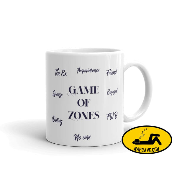 Game of Zones Mug 11oz Mug The NapCave Game of Zones Mug coffee cup Game of Thrones game of zones Game of Zones Mug