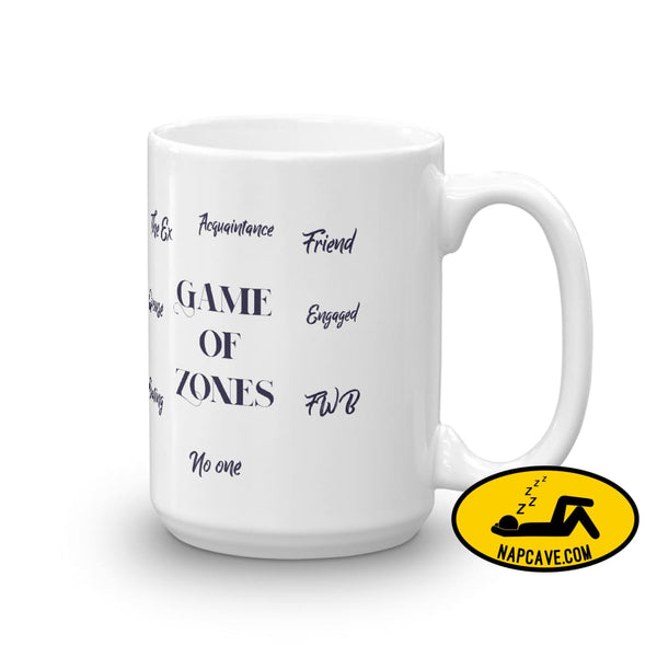 Game of Zones Mug 15oz Mug The NapCave Game of Zones Mug coffee cup Game of Thrones game of zones Game of Zones Mug