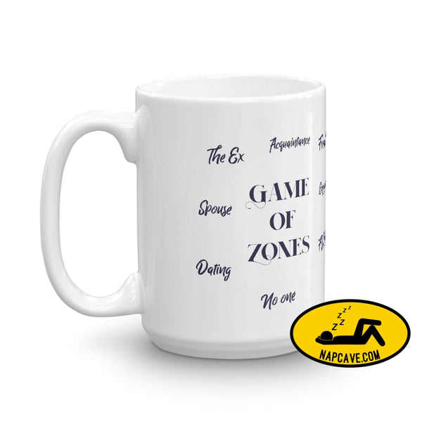 Game of Zones Mug Mug The NapCave Game of Zones Mug coffee cup Game of Thrones game of zones Game of Zones Mug