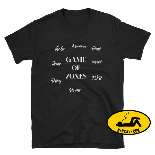 Games of Zones Unisex Softstyle T-Shirt with Tear Away Label Black / S SHIRT The NapCave Games of Zones Unisex Softstyle T-Shirt with Tear