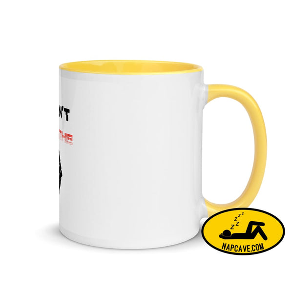 George Floyd I Can't Breathe Black Lives Matter Mug with Color Inside Yellow The NapCave George Floyd I Can't Breathe Black Lives Matter Mug