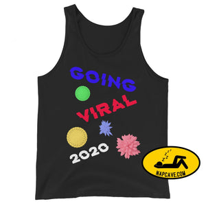 Going Viral 2020 Unisex Tank Top Black / XS The NapCave Going Viral 2020 Unisex Tank Top 2020, corona, coronavirus, going viral, Quarantine