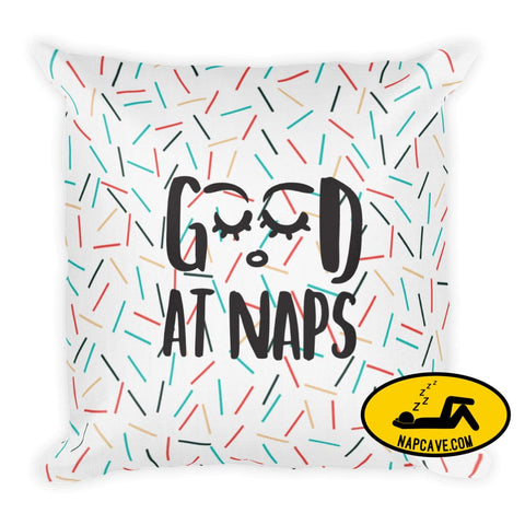 Good At Naps Premium Pillow pillow The NapCave Good At Naps Premium Pillow gifts Good at Naps Hidden Talents hypersomnia invisible illness