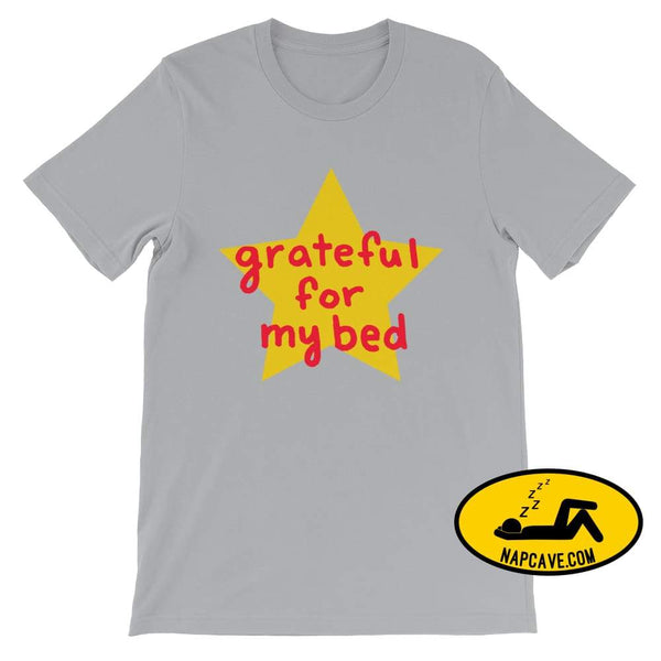 Grateful for my Bed Silver / S SHIRT Nap Cave Grateful for my Bed bed chronic illness chronic pain grateful Grateful for my Bed