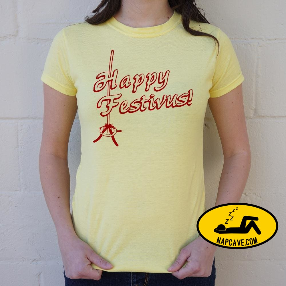 Happy Festivus! T-Shirt (Ladies) Ladies T-Shirt US Drop Ship Happy Festivus! T-Shirt (Ladies) christmas comedy costumes holidays movie