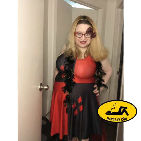 HARLEY QUINN Skater Dress Plus Size Dress The NapCave HARLEY QUINN Skater Dress Plus Size clothing DC Comics dress Dress Plus Size gifts for