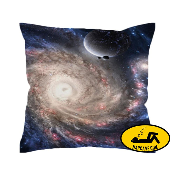 Hipster Galaxy Cushion Cover Universe Outer Space Themed Printed Pillow Cover Soft for Sofa 45cmx45cm / 002 The NapCave Hipster Galaxy