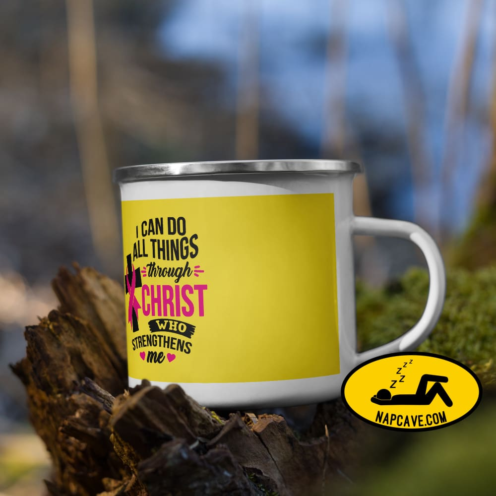 I can do all Things in Jesus Christ Pink Ribbon Enamel Mug The NapCave I can do all Things in Jesus Christ Pink Ribbon Enamel Mug Christ,