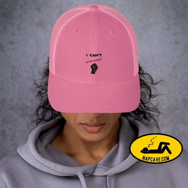 I can't Breathe Black Lives Matter George Floyd Trucker Cap Pink The NapCave I can't Breathe Black Lives Matter George Floyd Trucker Cap
