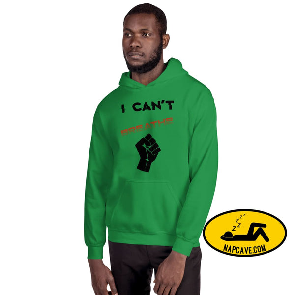 I can't Breathe Black Lives Matter Unisex Hoodie Irish Green / S The NapCave I can't Breathe Black Lives Matter Unisex Hoodie advocate,
