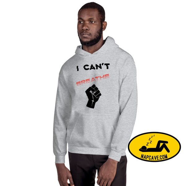 I can't Breathe Black Lives Matter Unisex Hoodie Sport Grey / S The NapCave I can't Breathe Black Lives Matter Unisex Hoodie advocate, black
