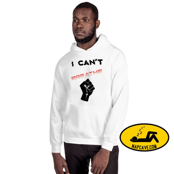 I can't Breathe Black Lives Matter Unisex Hoodie White / S The NapCave I can't Breathe Black Lives Matter Unisex Hoodie advocate, black