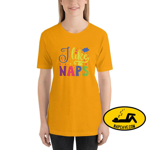 I like Naps Short-Sleeve Unisex T-Shirt Gold / S The NapCave I like Naps Short-Sleeve Unisex T-Shirt love Naps shirt sleep