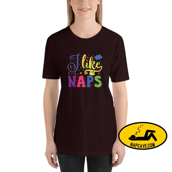 I like Naps Short-Sleeve Unisex T-Shirt Oxblood Black / S The NapCave I like Naps Short-Sleeve Unisex T-Shirt love Naps shirt sleep