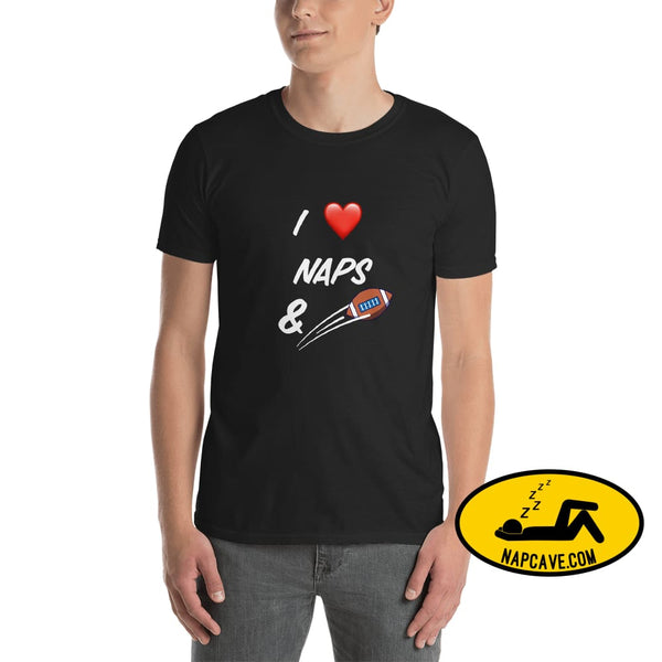I Love Naps and Football (USA) Unisex T-Shirt Black / S Shirt The NapCave I Love Naps and Football (USA) Unisex T-Shirt fan fans fantasy